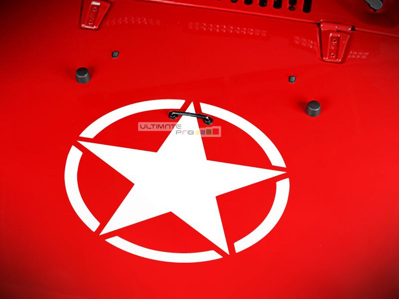 Decal Sticker Vinyl Hood Star Compatible With Jeep