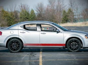 Decal Sticker Vinyl Side Racing Stripes Dodge Avenger 2007-2014
