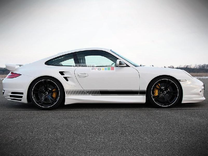 Decal Sticker Vinyl Side Sport Stripe Body Kit Porsche 911 2012-2017