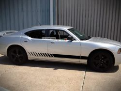 Lower Side Door Stripes Decal Graphic Vinyl Dodge Charger 2006-2010