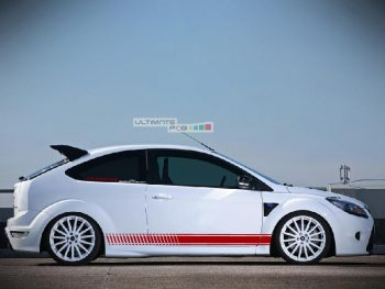Set of Racing Side Stripes Decal Sticker Graphic Ford Focus ST RS Mk2 3 Door Hatchback