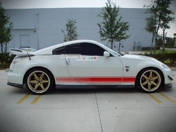 Set of Racing Side Stripes Decal Sticker Graphic Nissan 350 Z Fairlady Z Coupe Roadster Versions