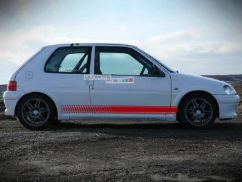 Set of Racing Side Stripes Decal Sticker Graphic Peugeot 106 1991-2003