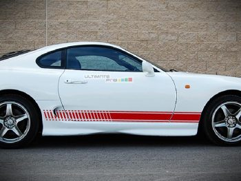 Set of Racing Side Stripes Decal Sticker Graphic Toyota Supra A80 High Performance