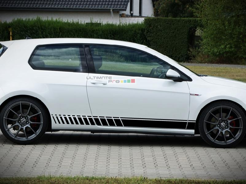 Side Sport Stripe Kit Sticker Decal Graphic Compatible
