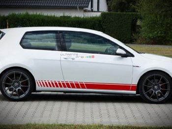 Side Sport Stripe Kit Sticker Decal Graphic Volkswagen Golf MK7