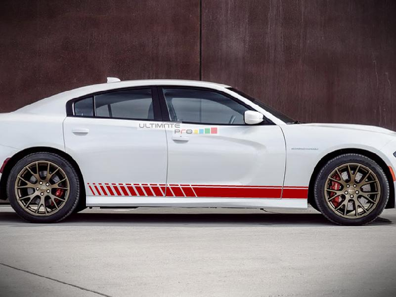 Side Stripe Kit Sticker Decal Graphic Compatible With