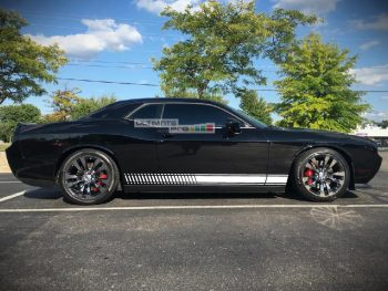 Universal Side Stripes Stickers Decals Graphic Dodge Challenger SE, RT, SRT8, and the SXT