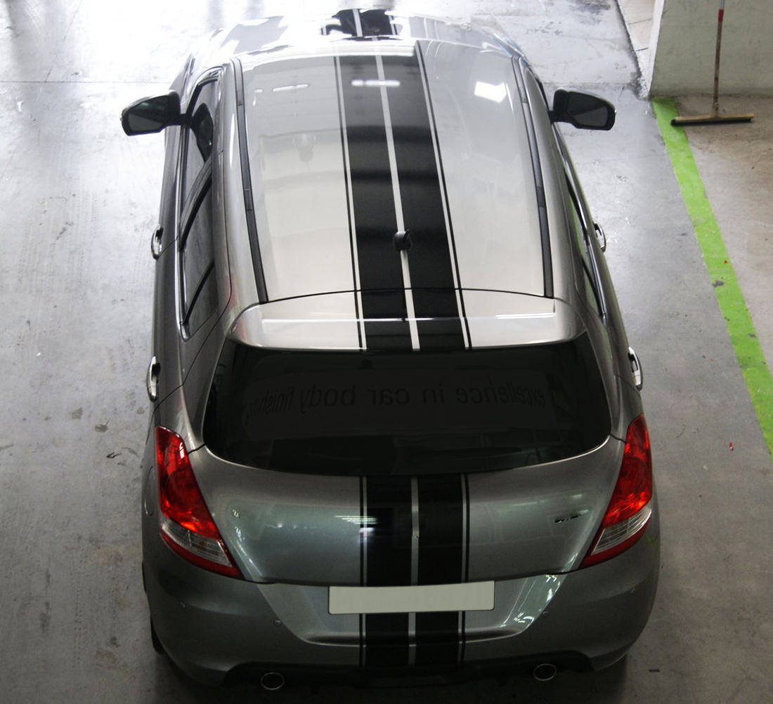 Full Stripe Kit Sticker Decal Graphic Compatible With