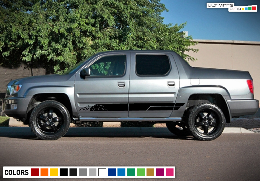 Decal Sticker Vinyl Lower Stripe Kit Compatible With Honda Ridgeline 2006 2017 Models