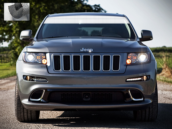 Sticker Decal Windshield Banner Stripe Compatible with Jeep Grand Cherokee  WK2 2011-2017 Sun visor Window c4258555428