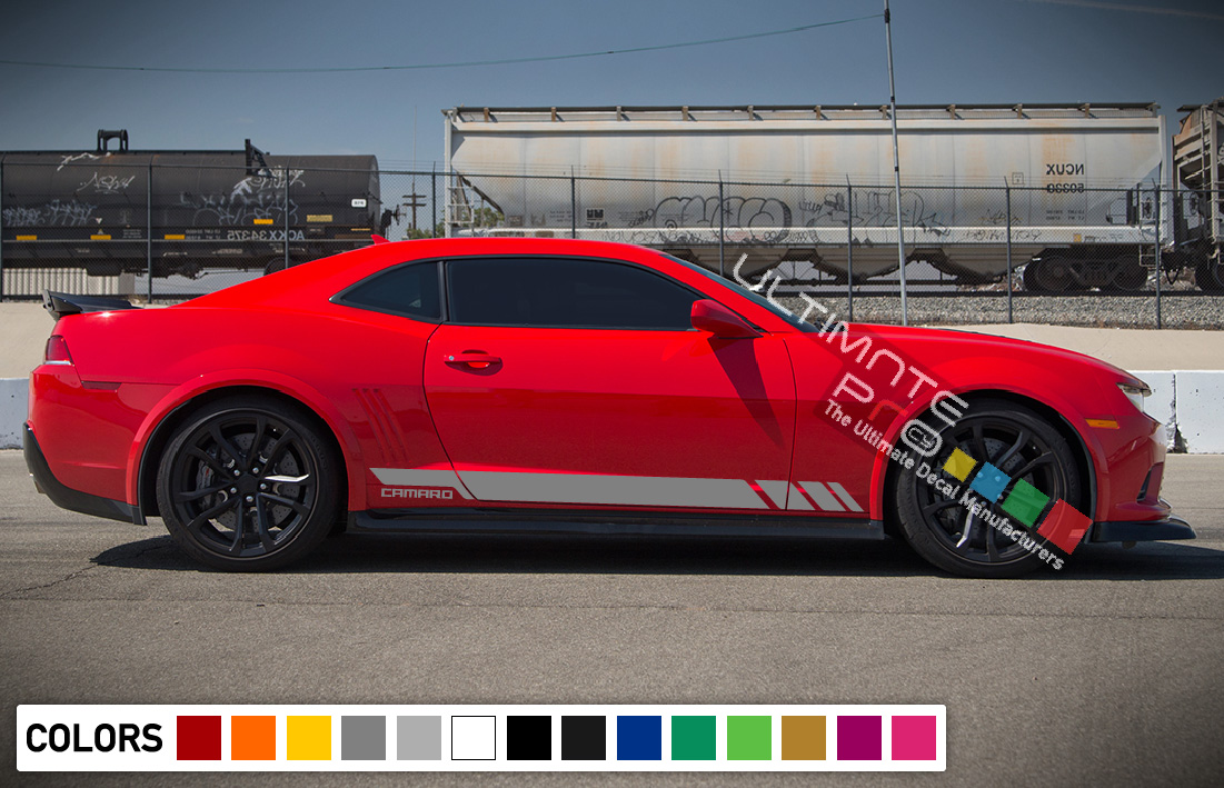 X Side Sport Stripe Kit Sticker Decal Graphic Compatible With Chevrolet Camaro Ss