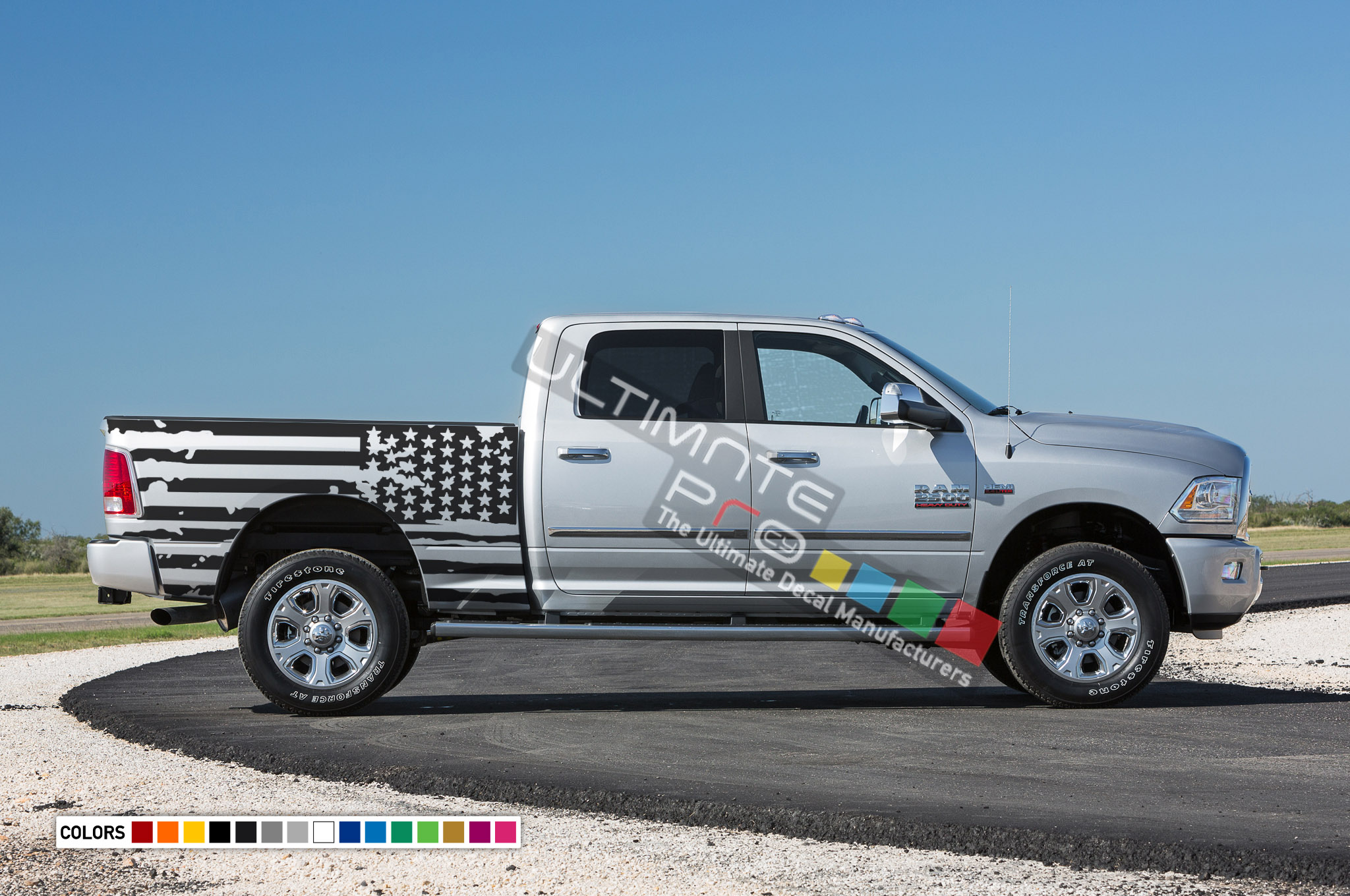 American Flag Decals Tail Sticker Kit Compatible With