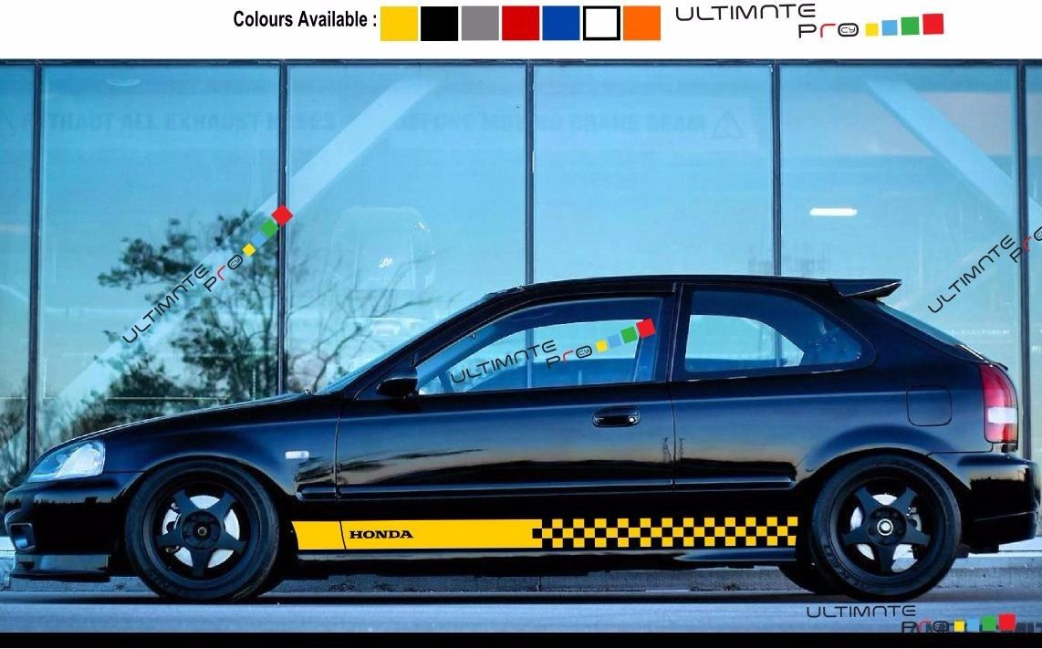 decal sticker stripe for honda civic 1997 1998 1999 2000 ek9 type r ultimateprocy. Black Bedroom Furniture Sets. Home Design Ideas