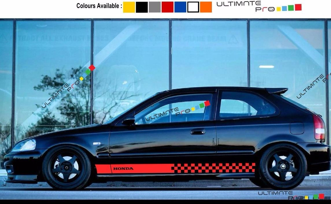 Decal Sticker Stripe For Honda Civic 1997 1998 1999 2000