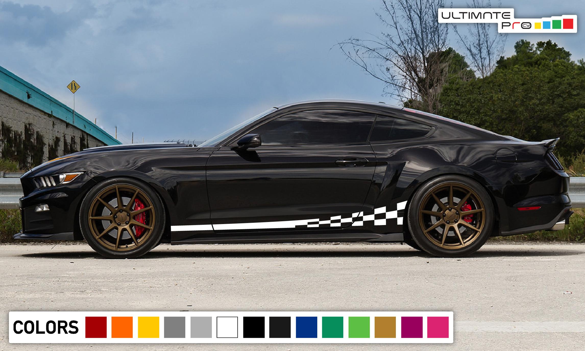 2x Sport Decal Sticker Vinyl Side Racing Stripes