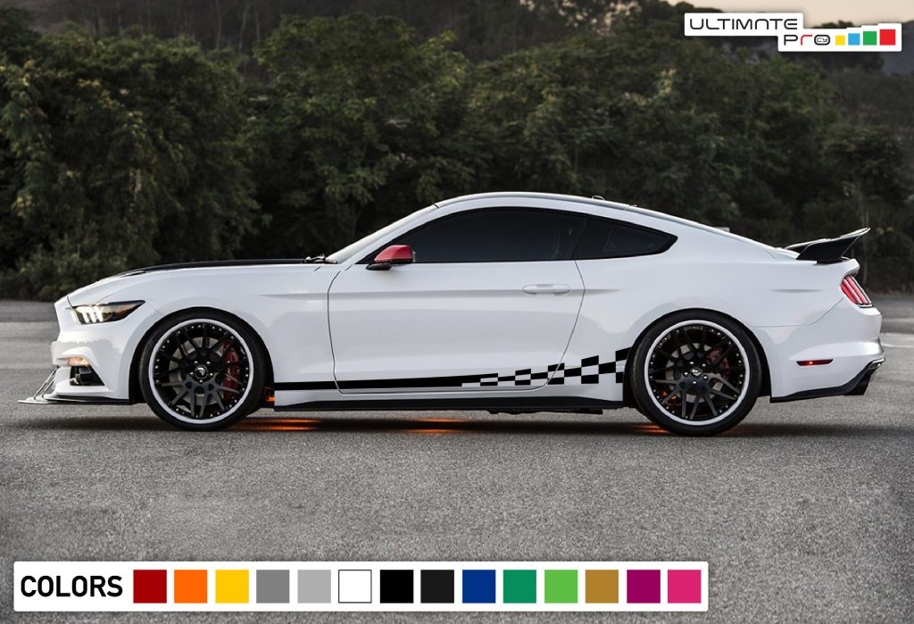2018 Mustang Colors >> 2x Sport Decal Sticker Vinyl Side Racing Stripes ...
