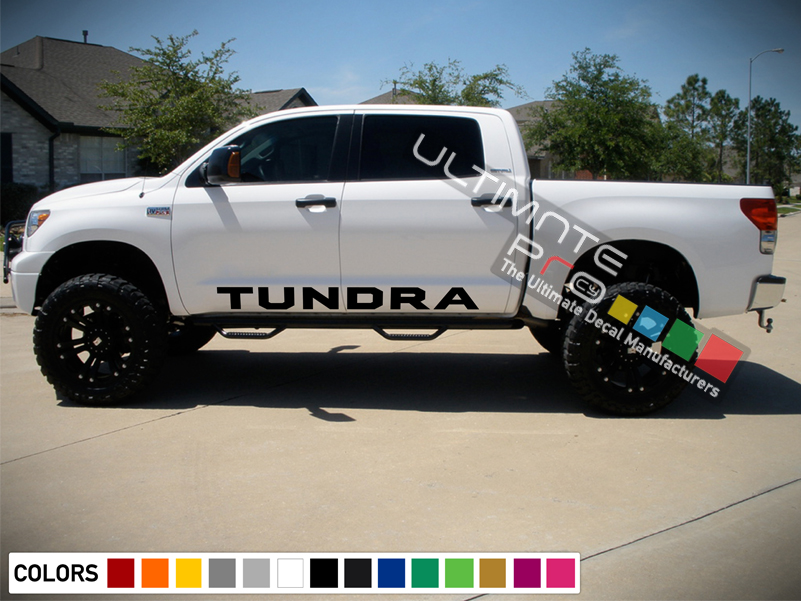 Side Decal Sticker Graphic Compatible with Toyota Tundra ...