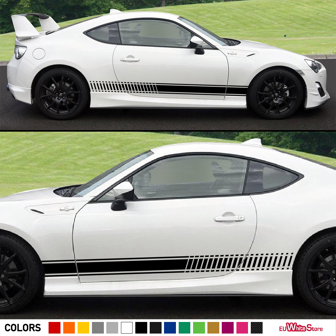Sport decal sticker vinyl side racing stripes compatible with toyota