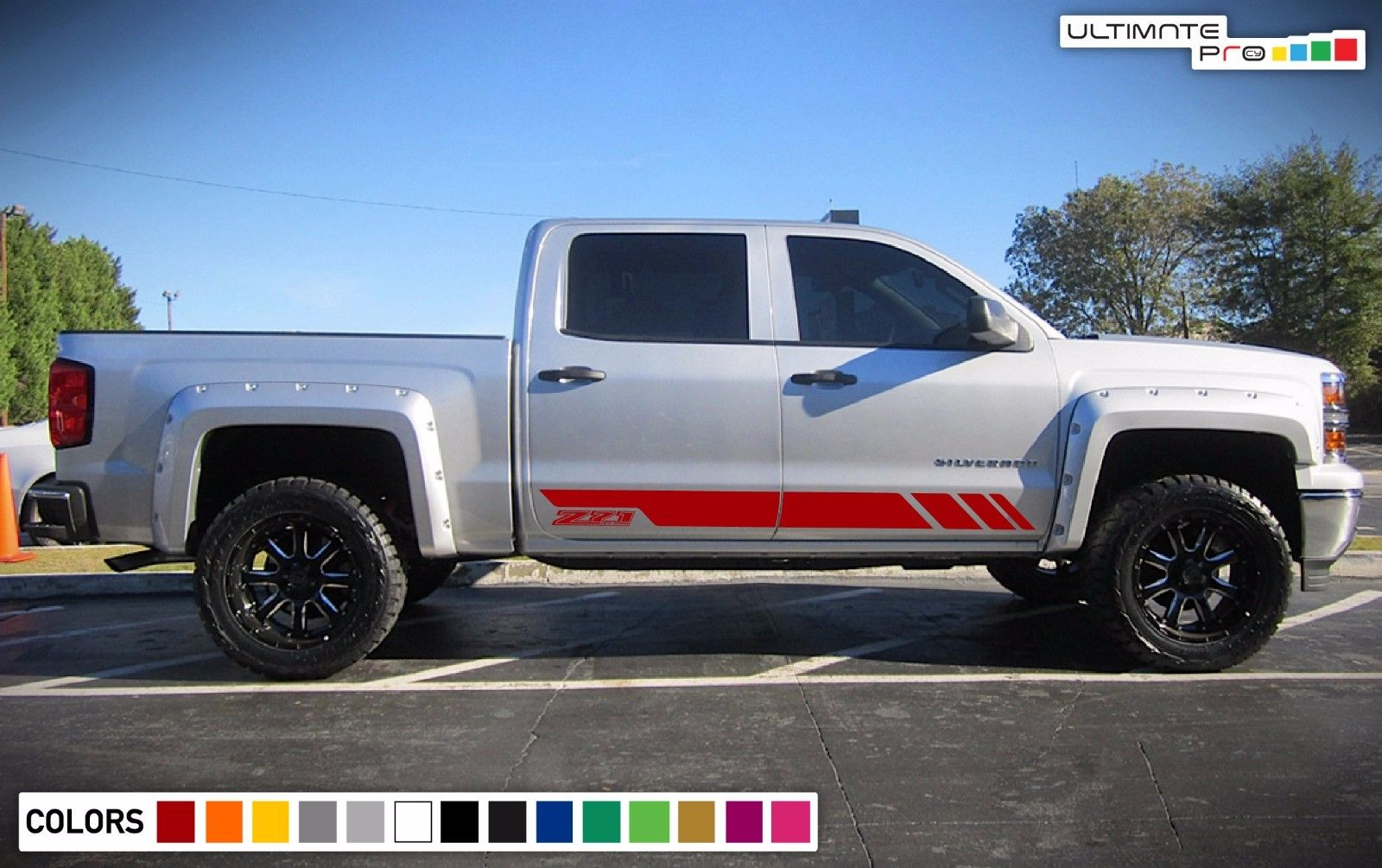 Decal Sticker Vinyl Door Stripes For Chevrolet Silverado