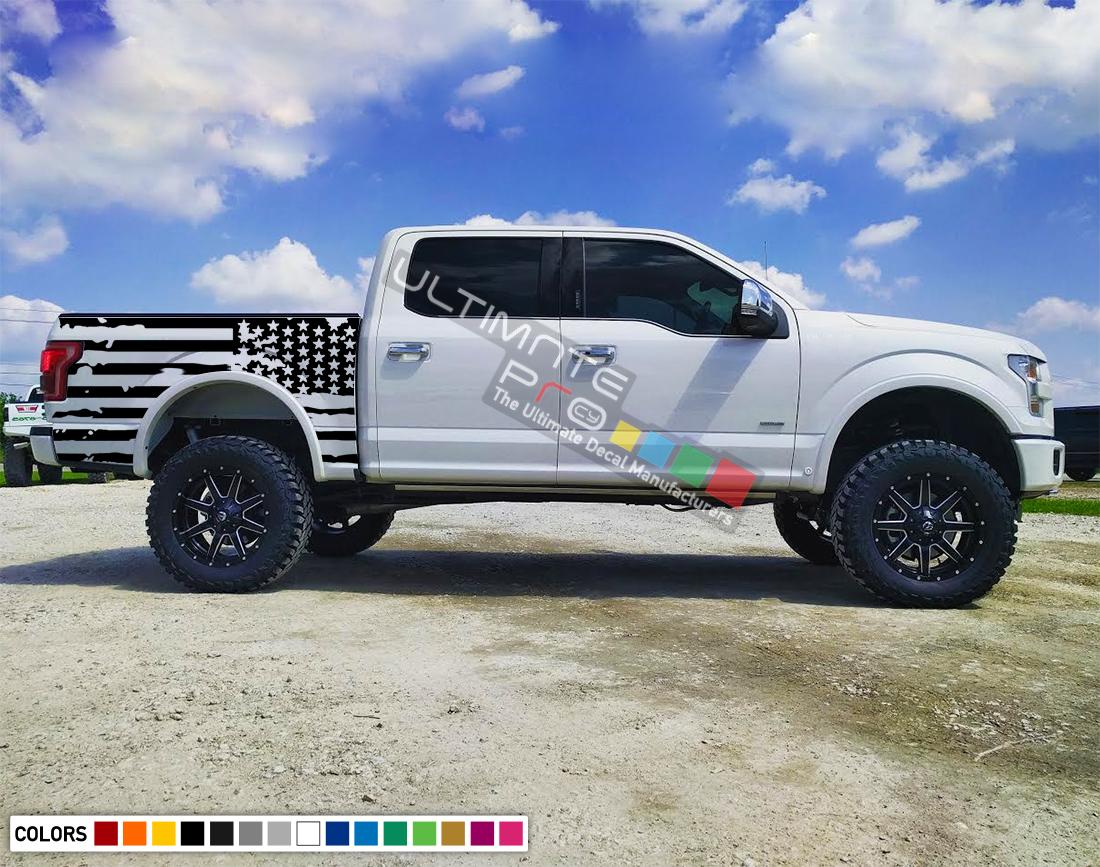 Decal Sticker Racing Stripes Body Kit Destorder Us Flag