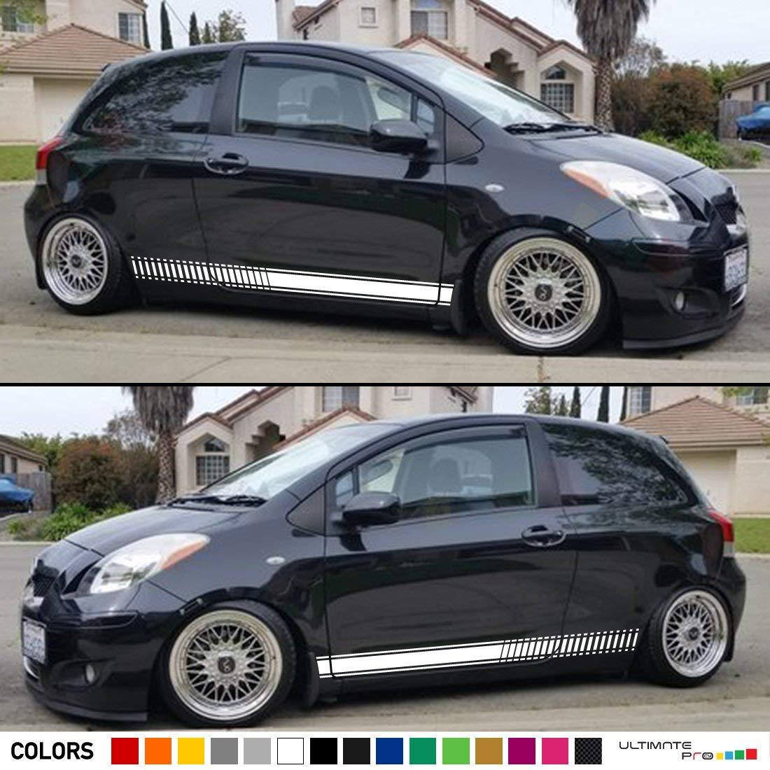 Sport Side Stripes Decal Sticker Vinyl Toyota Yaris Vitz 2nd Gen