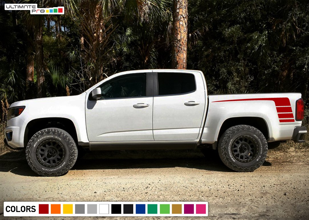 Side Bed decal, vinyl design for Chevrolet Colorado decal ...